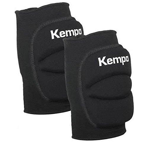 Kempa Handball & Volleyball Knieschoner Indoor Protektor gepolstert (Paar) schwarz (S = Knieumfang 30-34 cm) für Kinder und Erwachsene