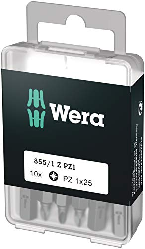 Wera Bit-Sortiment, 855/1 Z PZ 1 DIY, PZ 1 x 25 mm (10 Bits pro Box), 05072403001