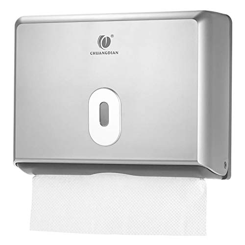 Blusea Distribution Serviette Papier pour Essuie-mains Multifold, Papier Serviette Titulaire Salle Bains Montage Mural Distributeur Essuie Mains Couverture Boîte Serviettes Organisateur
