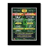 Music Ad World V Festival 1997 Mini-Poster Blur Prodigy,