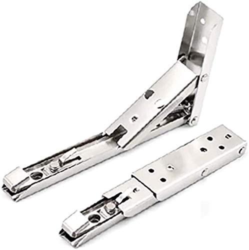 NLRHH Soporte de estante plegable, bisagra de mesa montada en la pared, soporte de metal, 2 unidades, con tornillos, color blanco (tablero no incluido) (tamaño: 160 x 450) (tamaño: 110 x 194)