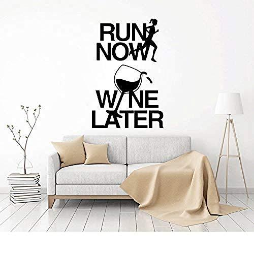 Pegatinas de vinilo para pared decoración de pared pegatinas de bricolaje ahora comienzan a poner pegatinas de arte de vino 41.3X63Cm