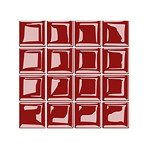 Juego de 10 adhesivos para azulejos de pared y suelo, diseño de mosaico, para cocina y baño, 20 x 20 cm (G)