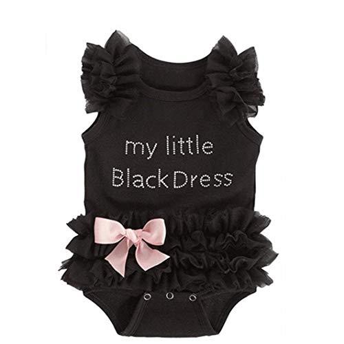 70 Cm De Bebé Mi Pequeño Vestido De Onesie Negro, Negro, (0-6 Meses), Casa Y Jardín