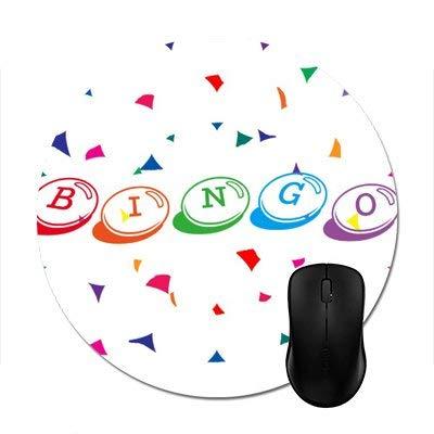 N\A Alfombrillas para ratón Bingo en Letras Coloridas sobre Alfombrilla Redonda Blanca para ratón