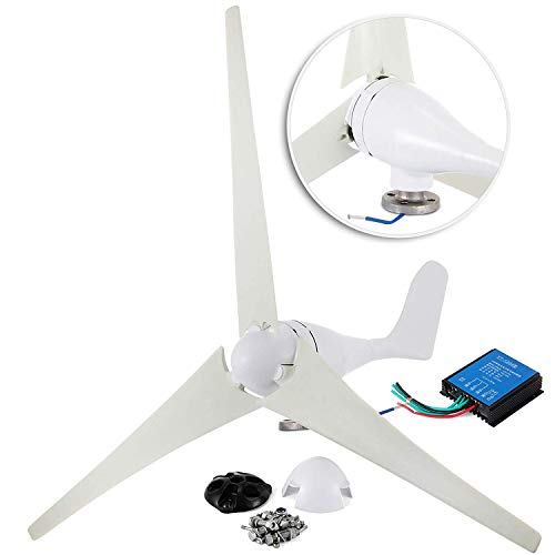 Happybuy Wind Turbine Generator 400W DC 12V Businesses 3 Blade with Controller for Marine RV Homes...