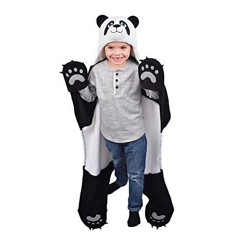 Fin Fun Wild Things Bam Bu Panda Bear Wearable Hooded Blanket
