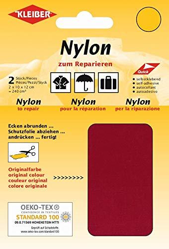 Kleiber - Parches de reparación de Nailon, Impermeables, autoadhesivos, Color Rojo Oscuro