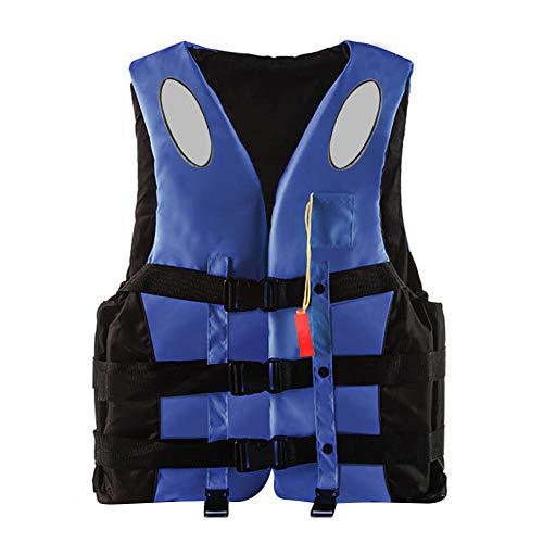 Rettungsweste Schwimmweste Jacke Kinder Erwachsene, auftriebshilfe Rettungswesten mit Pfeife Reflektierende Streifen, ideal schnorchelweste für den Wassersport kajak Drifting Surfing