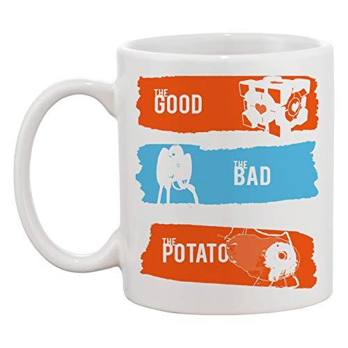 Portal The Good The Bad The Potato Weiße Tasse Kaffee Tee Männer Frauen Keramik Coffee Tea Mug Cup