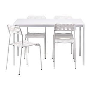 Ikea MELLTORP/ADDE–Mesa y 4sillas, Blanco–125cm