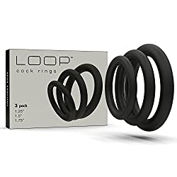 Black cock rings 3-pack.