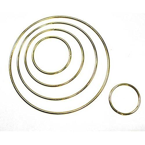 Metal Dreamcatcher Ring Hoop Brass Plated 9' - 22.8cm