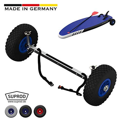 SUPROD SUP-Räder, Stand Up Paddle Board Wheels, Transport-Wagen, UP260, Edelstahl, schwarz/blau