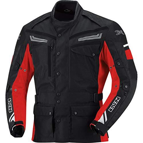 IXS Evans Giacca Tessuto moto - nero-rosso, M