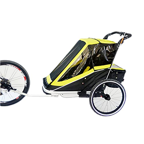 DUTUI Two Seater Outdoor Bicycle Trailer Rear Mounted Large Space Mountain Bike for Outing Riding Foldable And Comfortable Seat