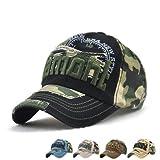 LAOWWO Baseball Cap Herren Cool Sport Outdoor Kappe Einstellbar Baumwolle Camo Army Cap -
