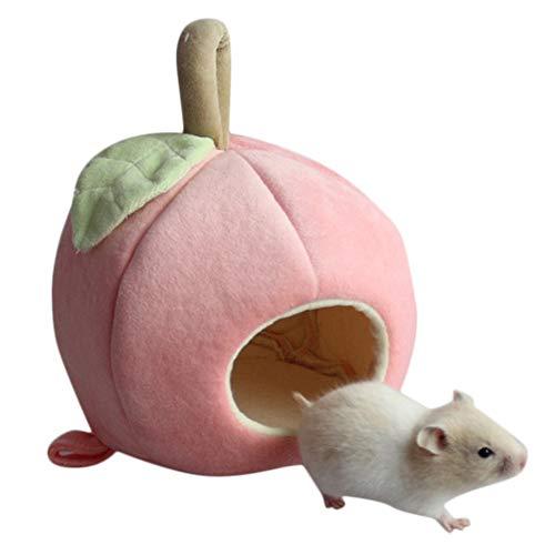 Balock Schuhe Nettes Tier Hamster Nest,Winter-Niedliches Plüsch-warmes Hamster-Igel-Ratten-Eichhörnchen-Nest-Haus,2 Farbes,für Meerschweinchen,Eichhörnchen,Rennmaus und andere kleine Tiere (Rosa)