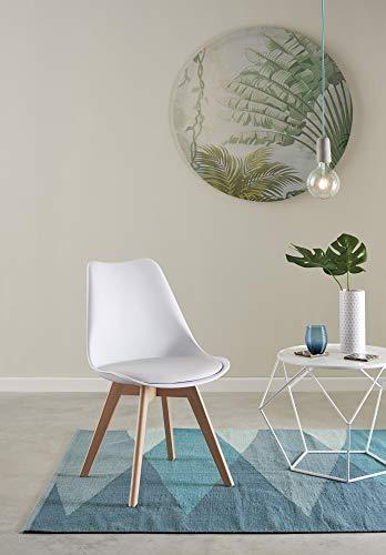 ConfortChoice CONFOR - Pack de 4 sillas de Color Blanco