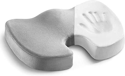 Delgeo - Cojín ortopédico para coxis con base antideslizante