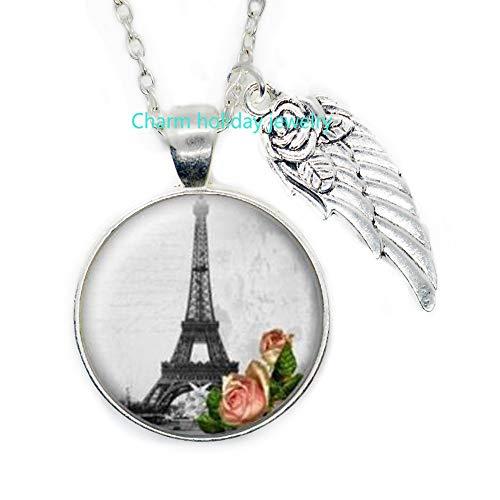 Eiffel Tower Necklace,Eiffel Tower Pendant,Eiffel Tower Jewelry,Paris Necklace,Paris Pendant,Eiffel Tower Pendant,Charm Necklace-#141