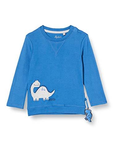 Sigikid Baby-Jungen Langarmshirt aus Bio-Baumwolle, Größe 062-098 Pullover, Blau/Dino, 86