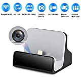LIZVIE Mini Spy Camera iPhone Charger Hidden Camera Nanny Cam with USB Charger Camera Hidden Spy Cam Surveillance Camera with Motion Detection 720P Full HD, WiFi, Cell Phone App (iPhone Charger)