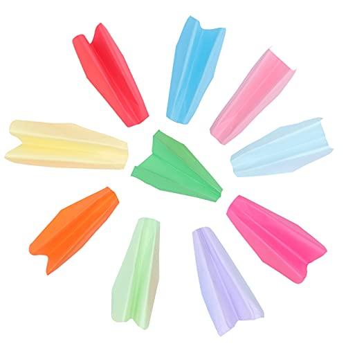 STOBOK 100 Piezas Avión de Papel Que Tira Los Juguetes Del Avión Avión de Papel de Origami Colorido Juguete Volador Fiesta Favor para La Boda Cumpleaños Bolsa de Relleno