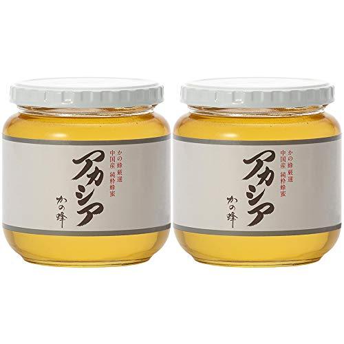 はちみつ 専門店【かの蜂】 厳選 中国産 アカシア 蜂蜜 600g×2本 純粋 蜂蜜 (瓶容器)