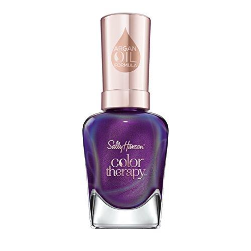 Sally Hansen Color Therapy Nagellack, Farbe 402 Plum Euphoria, schimmernden lila, 14.7 ml
