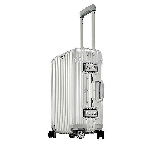 Rimowa Topas IATA Carry on Luggage 20' Multiwheel 32L TSA Lock Spinner Suitcase Silver