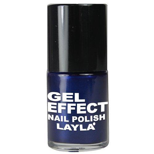 Layla Cosméticos Esmalte de Uñas con Efecto Gel, Tono Azules Aria - 10 ml