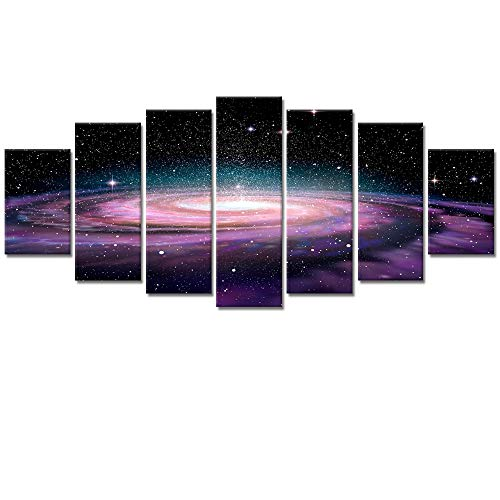 Visual Art Decor Modern Canvas Wall Art Starry Galaxy Universe Space...
