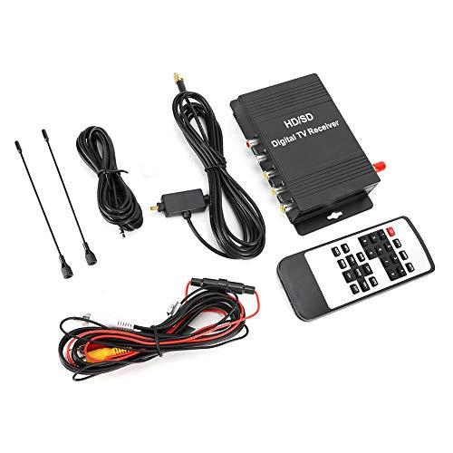 ATSC Mobile Digital TV Receiver Auto Car TV Tuner Car Digital TV Receiver Box with Antenna Fit for America, Canada, Mexico Area