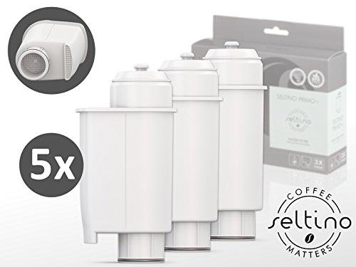 5x Trippel Pack Seltino PRIMO+ waterfilter voor PHILIPS SAECO koffiemachines, compatibel met Brita Intenza+ (15 filters in set)