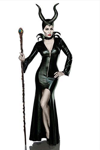 Halloween Kostüm `Misstress of Evil` by MASK PARADISE Fasching Karneval A80014, Größe:38;Farbe:schwarz