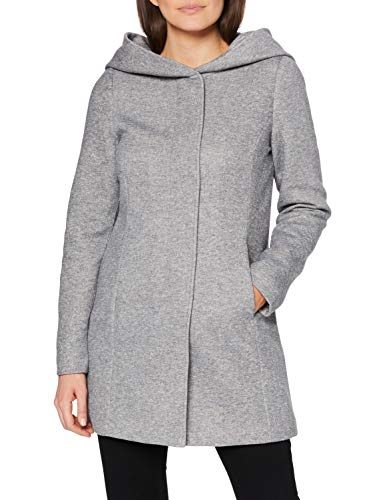 VERO MODA Damen Mantel Verodona 10202688 Light Grey Melange S