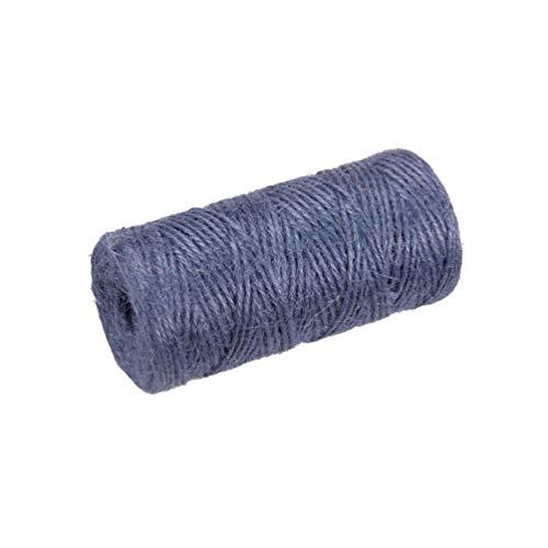 Amosfun - Cuerda de yute de colores para cadena de yute, cordel de regalo para bricolaje, artesanía, embalaje de regalo, decoración de bodas, aplicaciones de jardín, 100 m (rojo), color morado