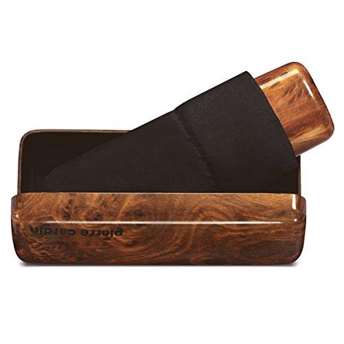 Pierre Cardin Regenschirm Taschenschirm Minischirm Holz-Optik