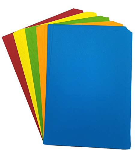 DJP A4 160 GSM Card - Assorted Bright Coloured Card Pack (50 Sheets)