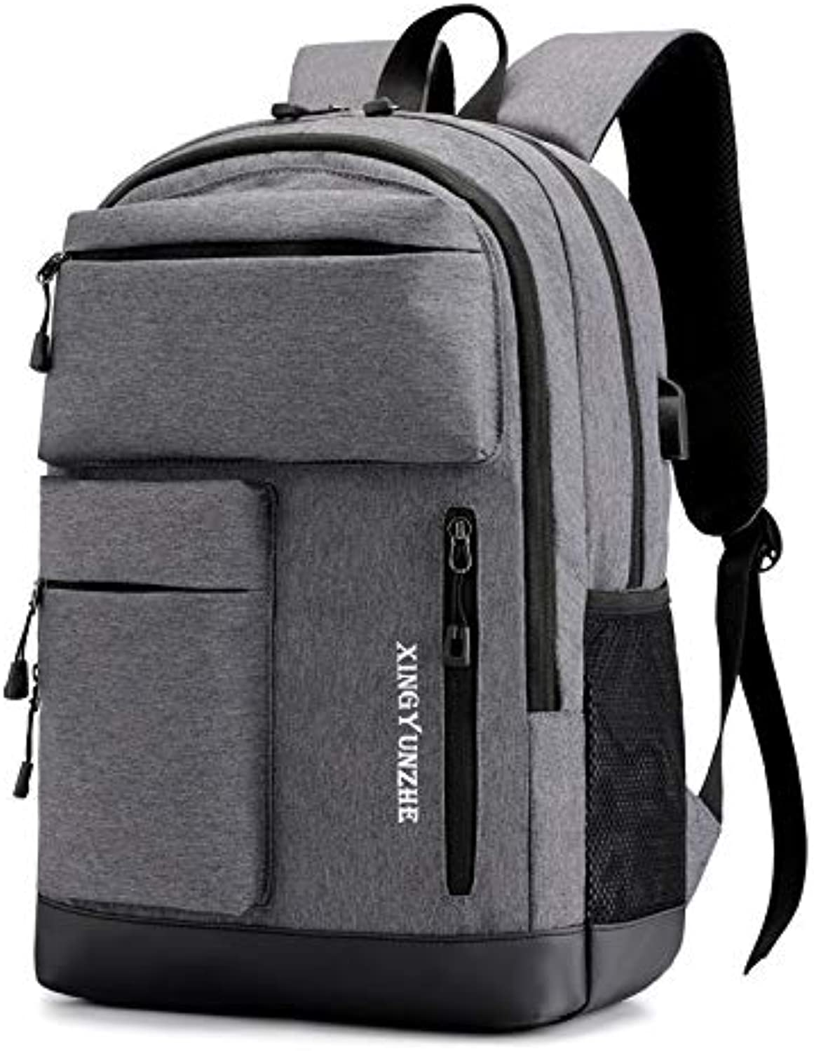 RYRYBH Fashion Casual Backpack Computer Multifunction USB Backpack Outdoor Backpack Student Bag backpack (color   Grey)