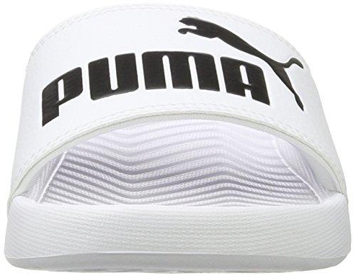 PUMA Popcat, Chanclas de Playa y Piscina Unisex Adulto, Blanco White Black, 42 EU