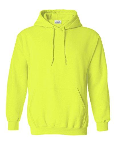 Joe's USA Hoodies Soft & Cozy Hooded Sweatshirt,Large Neon Yellow