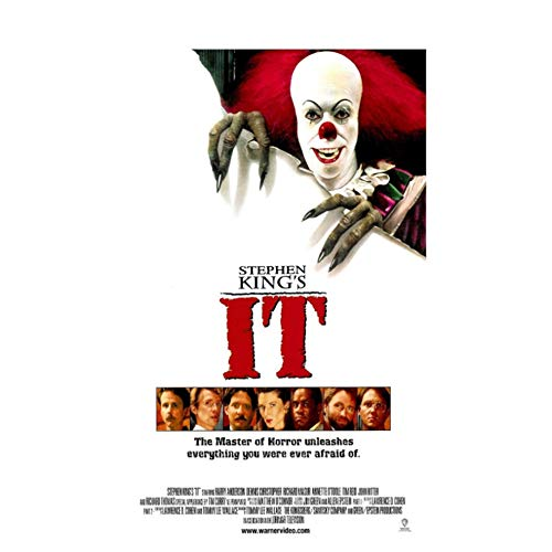 Carteles e Impresiones IT Movie Pennywise (1990) Classic Film Art Poster Canvas Painting Home Decor-50x70cm Sin Marco