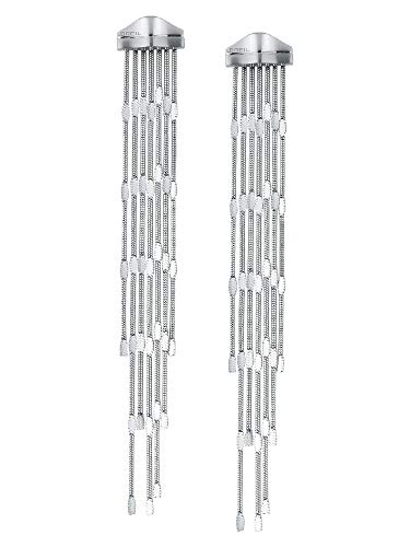 BREIL JEWEL Ladys' SINUOUS collection, STEEL EARRINGS UNIQUE, SILVER color with NO STONES - TJ2946