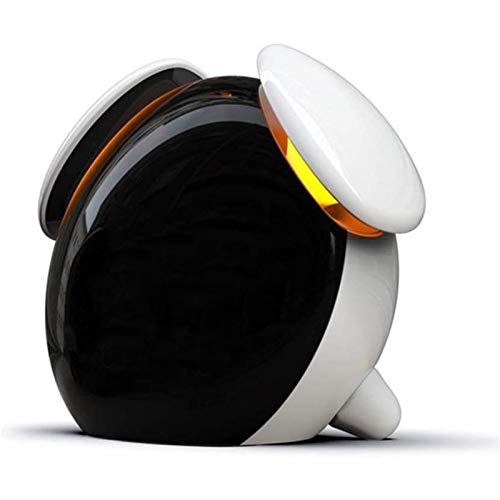 Cargador Wake Up Light Despertador Luz LED Multifunción Niños Despertador de Carga de Inducción Inteligente para el Dormitorio 128X70x110mm Alarma (Color : White)