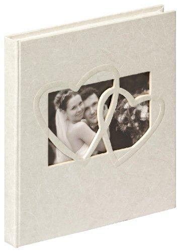 Walther Design GB-123 Sweet Heart Libro Degli Ospiti, 144 Pagine Bianche, 23 x 25 cm