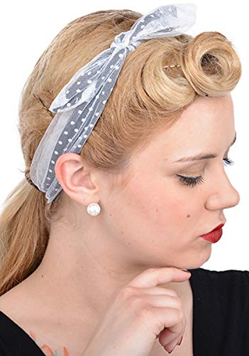 Cute Retro Laura Polka Dots 50s Punkte Haarband Rockabilly