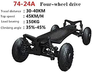 ARQANJ Off-Road Electric Skateboard Cruiser Extreme Sports Longboard Four-Drive Independent Suspension Damping System Skateboard All Terrain 2200W Power 45 Km/H