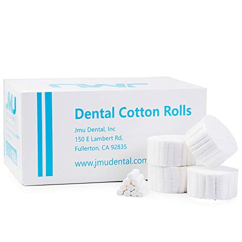 JMU 2000 PCS Dental Gauze Rolls for Dentists,Rolled Cotton Balls,Nosebleed Kit Accessories for Adults Kids,Non-Sterile 100% Natural Cotton High Absorbent Cotton(1.5 Inch)